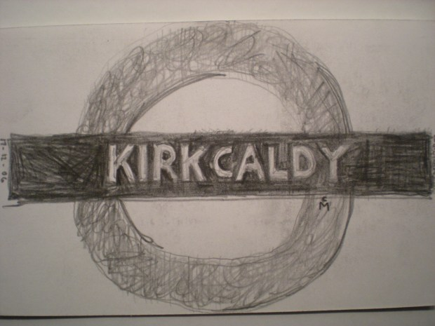 SKETCH OF AN UNDERGROUND STATION called KIRKCALDY