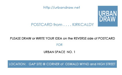 POSTCARD DESIGN TO GET FEEDBACK IN FORM OF SKETCHES AND IDEAS