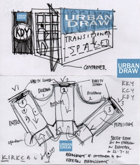 CONTAINERS ARE IDEAL AS TEMPORARY EXHIBITION SPACES TO PROMOTE URBANDRAW